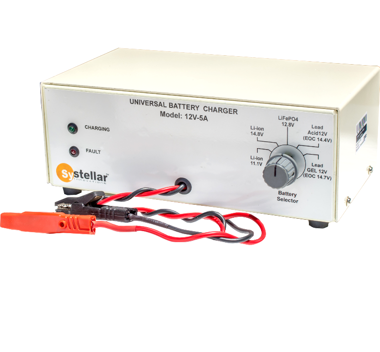 Systellar universal battery charger